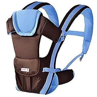 Baby Tragetasche Babytrage Komforttrage Bauchtrage Rückentrage babycarrier Holder Einstellbar (Navyblau)