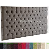 CHESTERFIELD DIAMANTE BUTTON HEADBOARD IN 2ft5,3ft,4ft,4ft6,5ft,6ft !!!!NEW!!!! (4ft6, GREY)