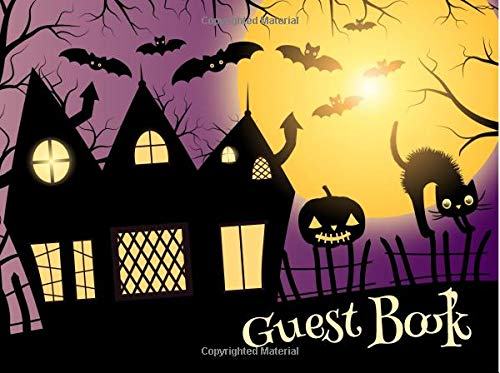 alloween Sign In Guest Book 50 Sheets/100 Pages 8.25