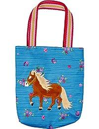 Mein Kleiner Ponyhof Mini Bolso Mi Pequeño Pony Azul con Aplicaciones de Peluche y Bordado 18x20x4cm