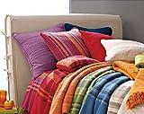 Tata Home Kenya Copriletto misura 1 Piazza Singolo 170x255 cm 80% Cotone 20% Poliestere Colore Arancio