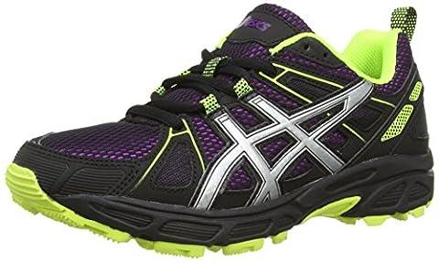 ASICS Gel-Trail-Tambora 4, Chaussures Multisport Outdoor Femmes - Violet (Purple/Silver/Flash Yellow 3393), 40.5 EU