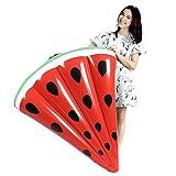 JYCRA aufblasbar Pool Float Reihe, Wassermelone Slice aufblasbar Floating Liegestühlen Bett Reihe für Erwachsene Kinder geeignet Die Beach Summer Party Outdoor Wasser Erholung, 119,4x 99,1cm