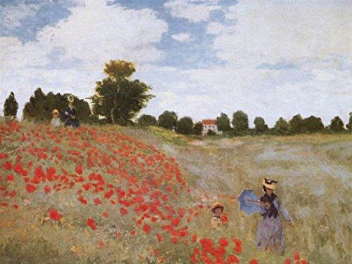 Claude Monet - Papaveri, 1873 Stampa D'Arte (80 x 60cm)