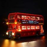 BRIKSMAX Kit di Illuminazione a LED per London Bus, Compatibile con Il Modello Lego 10258 Mattoncini da Costruzioni - Non Include Il Set Lego