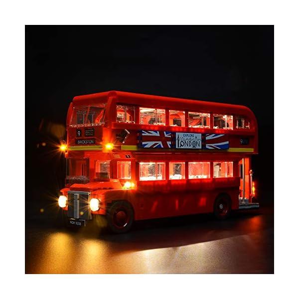BRIKSMAX Kit di Illuminazione a LED per London Bus, Compatibile con Il Modello Lego 10258 Mattoncini da Costruzioni… 1 spesavip