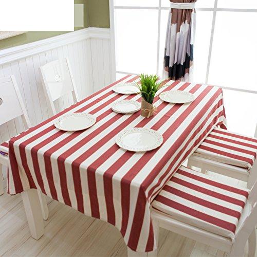 TRE Baumwolle Tischdecke Stoff/ Tisch Tisch Tischdecke/Rot-weiß gestreifte Tischdecke/Tischdecke decke/Abdeckung Tuch-A 70x100cm(28x39inch) - Gestreifte Weiße Decke