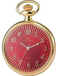 KS KSP056 - Reloj Unisex de Bolsillo Cuarzo Japonés, Open Face Series