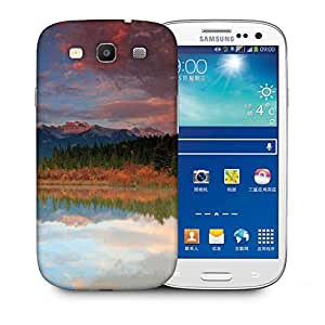 Snoogg Red Clouds Printed Protective Phone Back Case Cover For Samsung S3 / S III