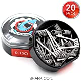 20 PCS Vapethink Shark Coil Bobina de Vaper Wire, Resistencias Vape AWG(0.5mmx3