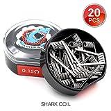20 Stück Shark Coil Vorkompilierte Draht by Vapethink, AWG(0.5mmx3 + 0.2mm Flat) by Vapethink, 0.15 ohm