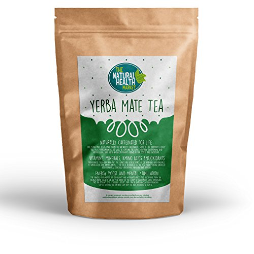 Yerba Mate Tea Bags By The Natural Health Market 100 Bags A Powerful Stimulant Containing Natural Vitamins & Mineral Mate Cafe Quality Tea Bags For Home Caffeine Strength Without The Jitters!