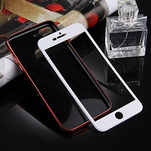 Phone Housse Étui pour Pour iPhone 7 Plus, Coque Pour IPhone 7 Plus Casque protecteur protecteur TPU + PC pour électrolytage détachable à 360 degrés avec couverture PC blanche ,Case Housse Coque pour  Red