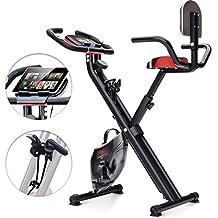 Bicicleta estática plegable Sportstech F-Bike X100-B con sistema de resistencia inteligente,