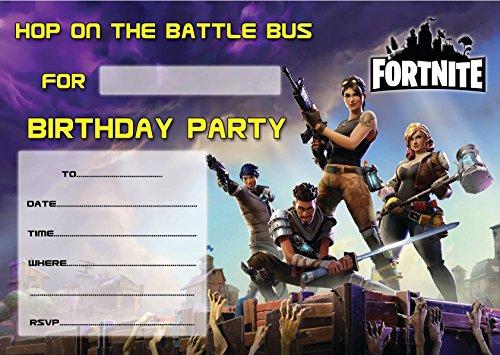 Game FORTNITE CHILDREN'S BIRTHDAY PARTY INVITES INVITATIONS X 10 PACK