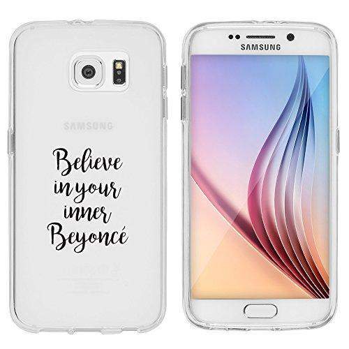"""licaso Samsung Galaxy S6 Hülle TPU schützt Dein S6 5,1\"""" Beyoncè Pop Musik Schutz-Hülle transparent klare Schutzhülle Tasche Silikon Style (Samsung Galaxy S6, Beyoncè)"""