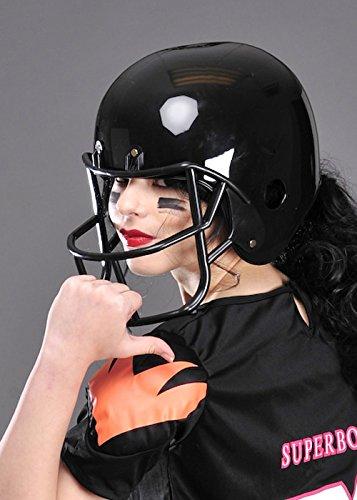 Erwachsenen Kostüm schwarz (Kostüme Football Helm)