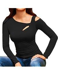 Blusas Mujer, ASHOP Casual Sólido Hombro Frío Sudaderas Moda Elegantes Ropa en Oferta Camisetas Manga Larga Tops de Fiesta Abrigos Invierno de Mujer Otoño