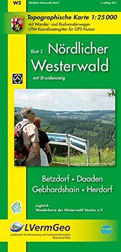Nördlicher Westerwald, Blatt 2 - Betzdorf, Daaden, Gebhardshain, Herdorf (WR): Topograpische Karte 1:25000 mit Wander- und Radwanderwegen und dem ... Rheinland-Pfalz 1:15000 /1:25000)