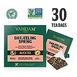 Hojas exóticas de té Darjeeling primero Flush, 15 bolsitas de té (PAQUETE DE 2), Bolsas de té Darjeeling pirámide de hoja larga, 100% de té puro sin mezcla de Darjeeling, envasado en la India