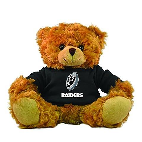 NFL Oakland Raiders Rally Men Hoodie Bear, 9-inch, Black
