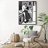 baodanla Sin Marco Steve Mcqueen Print Mcqueen with His Wife Men Fashion Movie Poster Black White Photography Art Canvas ng Home Wall 50x70cm