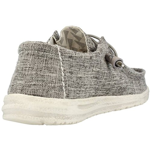 Dude Shoes Men's Wally Linen Iron Grey