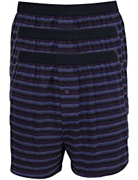 Ex-Store Mens Pack of 3 Cotton Jersey Button Front Boxers