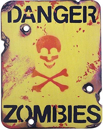 en bois Danger Zombies plaque militaire Armée Style vintage 22 x 28 cm