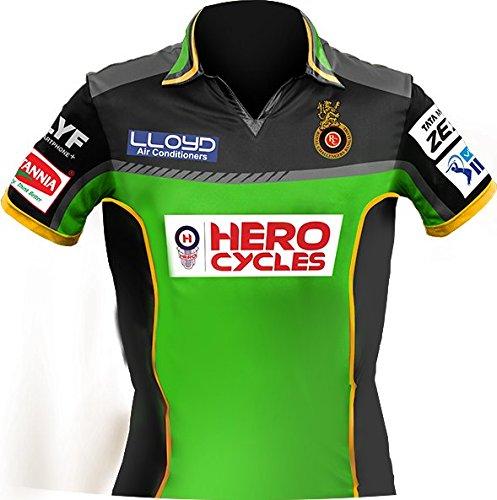 UNIQ Girl's IPL RCB T-Shirt (16-17 Years, Green)