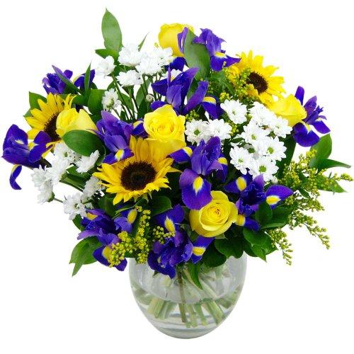 clare-florist-springtime-daze-fresh-flower-bouquet-assortment-of-sunflowers-roses-and-chrysanthemums
