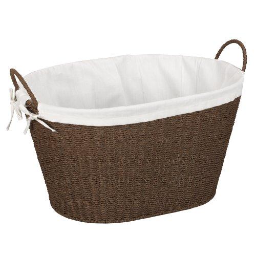 Household Essentials Gezeichneter Papier-Seil-Wäschekorb, dunkler Brown-Fleck Wicker Körbe Badezimmer