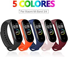 Bangting 15 PCS Correa Compatible con Pulseras Xiaomi Mi Band 3 / 4, Correas para Fundas Mi Fit Band 4 My Band 3...