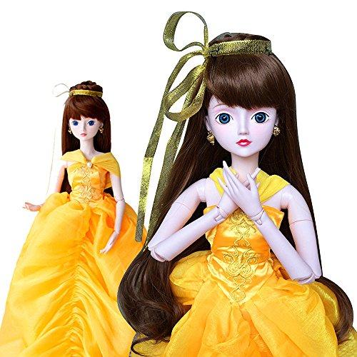 Belle For Beauty & Beast Cosplay 1/3 BJD Doll Full Set 60cm 24