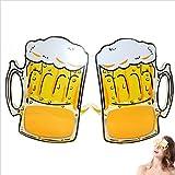 OULII Taza de cerveza copas de copa de cerveza de desbordamiento de anteojos para el partido de fiesta de cerveza de disfraces Favors