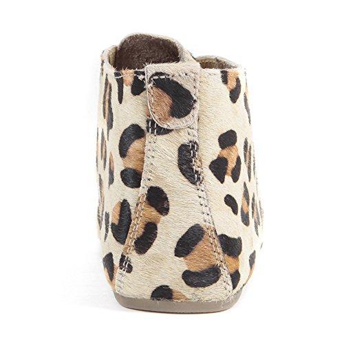 Aspele Hairon - Bottes Imprimé Cheetah en Cuir Plat Beige guépard