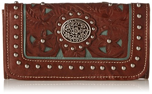 american-west-lady-lace-tri-fold-walletantique-brown-turquoiseone-size