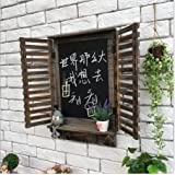 SU@DA Hangings de la pared/decoración pared/ventana/ornamentos/americano país/vintage/bar/cafetería/ornamentos de madera/gancho/pizarra , a23-jk-258