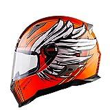 ZHYY Casco per Locomotiva Full Face Moto Motocross Crash Frontale Anteriore D.O.T & ECE 22.05 Casco di Sicurezza omologato per Gara su Strada Fuoristrada (M, L, XL, XXL),M