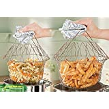 Proenzakitchy Chef Basket 12 In 1 Kitchen Tool For Cook, Deep Fry, Boiling Solid Steel Delux