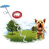 Zanteca - Cable de sujeción para perro con estaca de estilo espiral