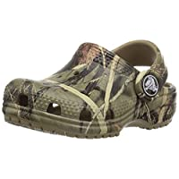 Crocs - Classic Realtree K Clog (Toddler/Little Kid), UK: 8 UK, Khaki