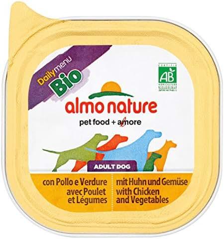 Almo Nature : Aliment Chien Daily Menu Bio:poulet& Leg.100g