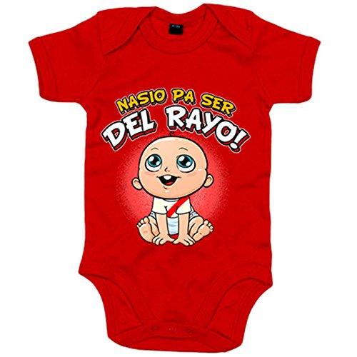 Body bebé nacido ser Rayo Vallecano fútbol - Rojo