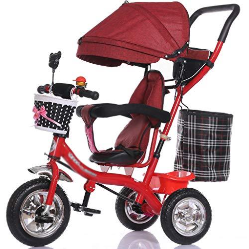 YC electronics Sillas de Paseo Carro Triciclo Multifuncional para niños 1-3 - 5 años de Edad Bicicleta...
