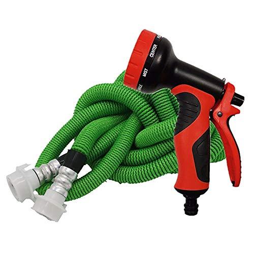 YLYP Gartenschlauch Erweiterbar, Mit 10-Fach Spritzpistole, Flexibler Gartenwasserschlauch 3-Fach Erweiterbar Mit Flexiblem, Leichtem Magieschlauch (Farbe : Grün, größe : 100FT)