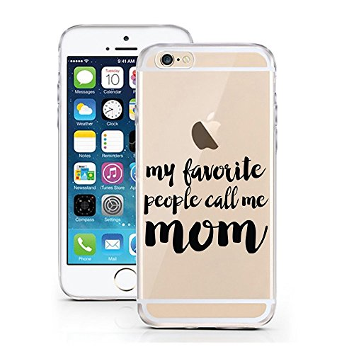 Blitz® Ei Schutz Hülle Transparent TPU Cartoon Comic iPhone  Sold Out M9 iPhone 8 8s My Mom M5