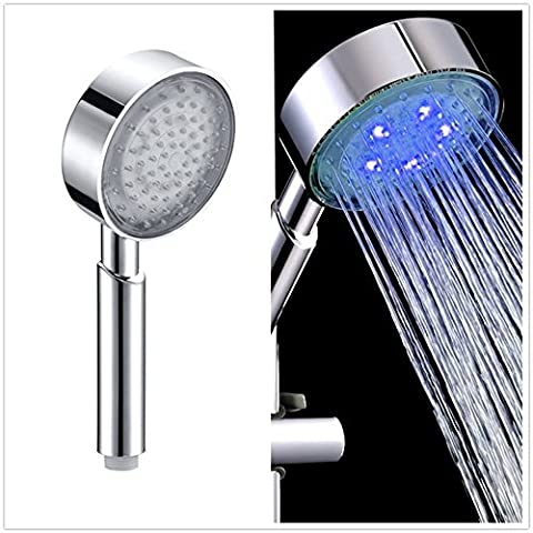 Bloomwin-Doccia LED Lampada a LED LED Shower Doccetta Soffione Colore Blu Diametro 103mm