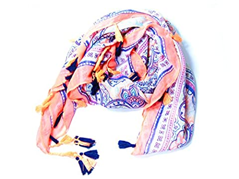 Hot Fashion Women Ladies Monochrome Leopard Soft Silk Scarf Large Shawl Scarfs Scarves (Ethnic Border)