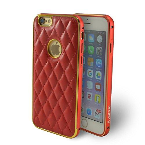 Arezio Schutzhülle für iPhone 6 (PU-Leder), rot (Hex-iphone 6 Fall)